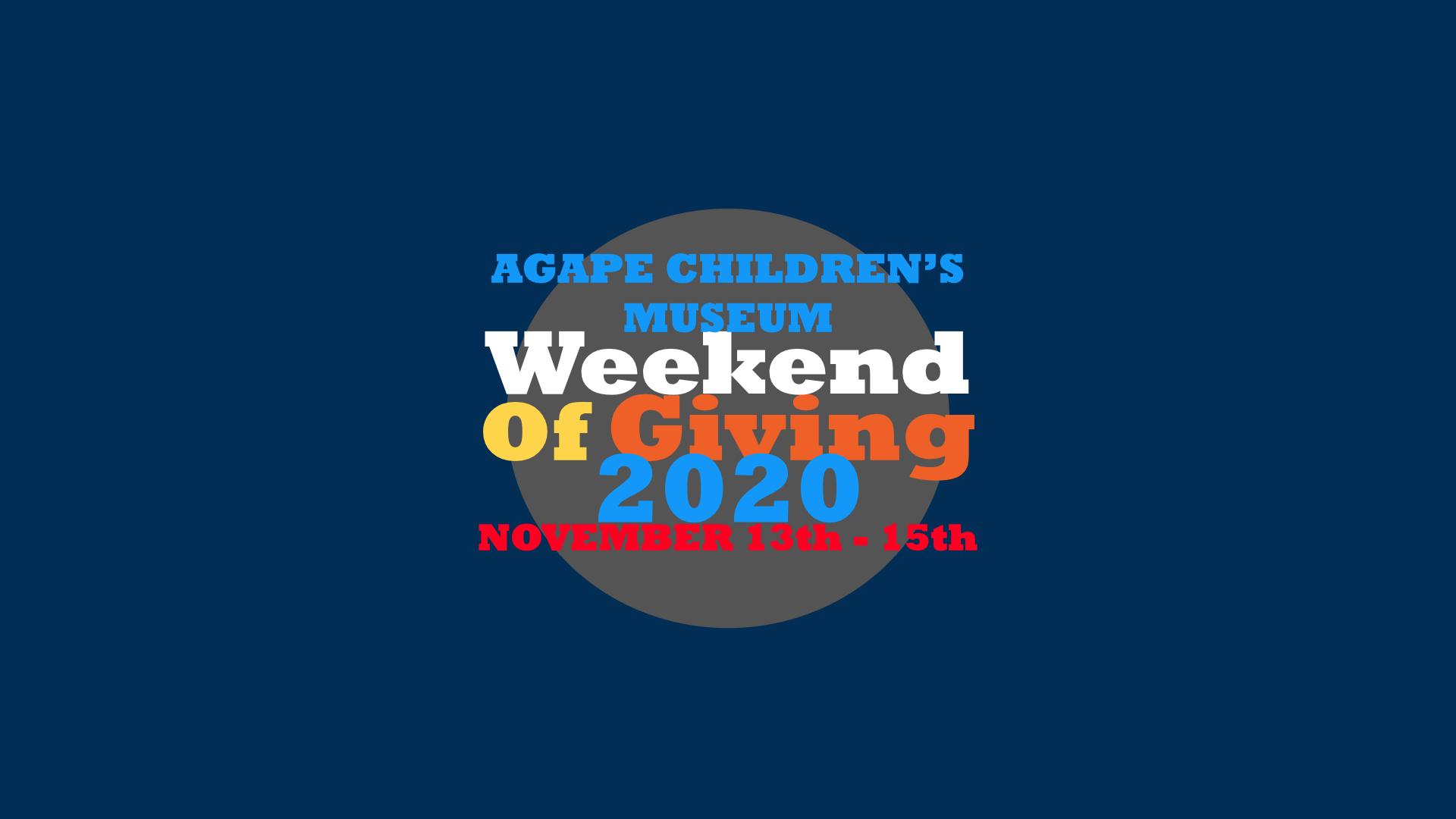 ACM Weekend of Giving