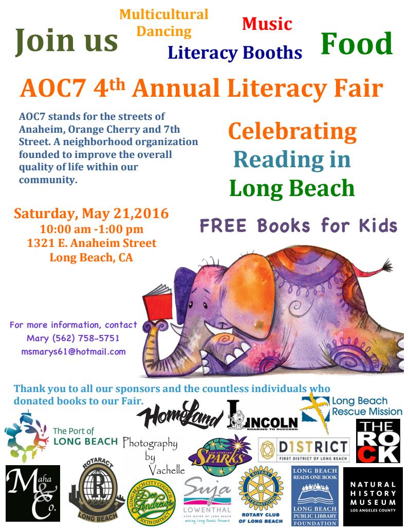 AOC7 4th Annual Literacy Fair